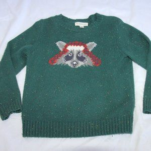 Tucker + Tate Boys Sweater SZ 3 Green Raccoon